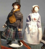 Dressed Miniature Dolls